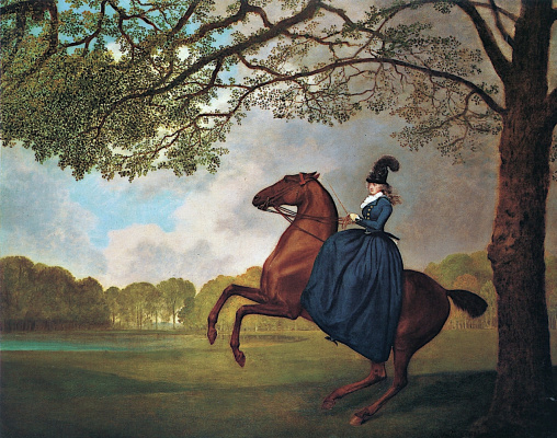 George Stubbs. Lady Leidy on Arab horses