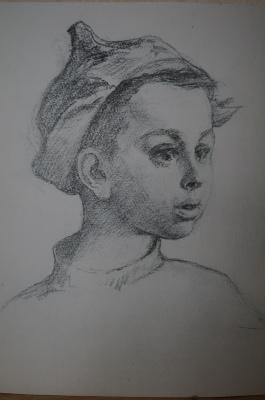 Petr Vasilyevich Luzgin. Boy in budennovka