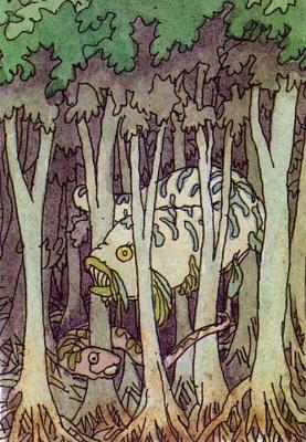 Клодин Сабатье. Страшно в лесу