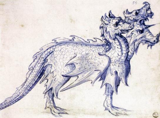Giuseppe Arcimboldo. Cerberus. Sketch