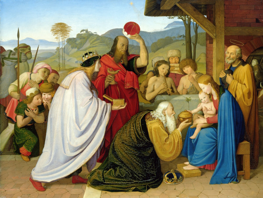 Johann Friedrich Overbeck. Adoration of the Magi
