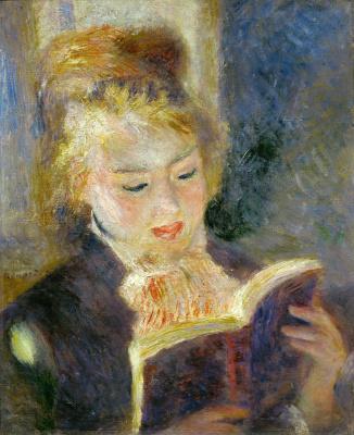 Pierre-Auguste Renoir. Girl reading a book