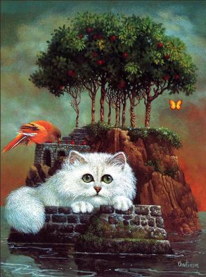 Джеймс Кристенсен. Белый кот