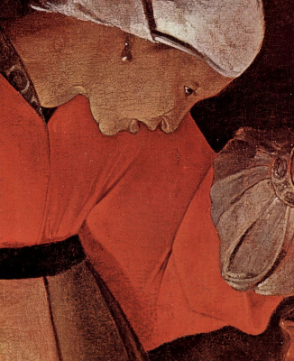 Georges de La Tour. Job and his wife, snippet: profile of the wife of job