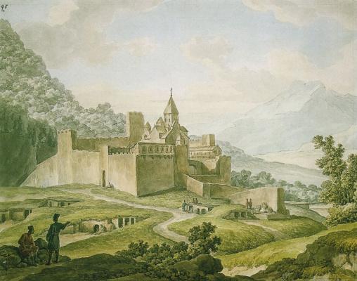 Крепость-монастырь в Грузии