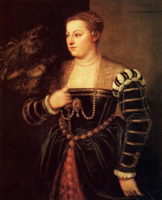 Titian Vecelli. Portrait of the artist's daughter Lavinia