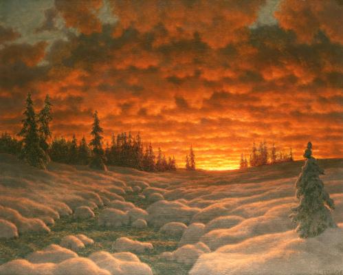 Иван Федорович Шультце. Закат зимой