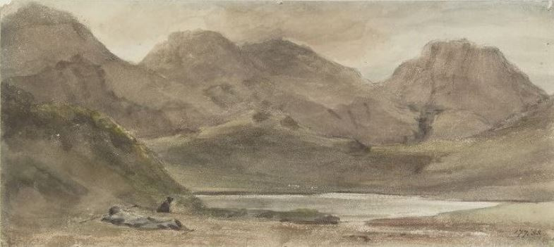 John Constable. A resting shepherd in the mountains, Borrowdale