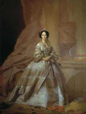 Ivan Kuzmich Makarov. Portrait of Empress Maria Alexandrovna, wife of Alexander II. 1866