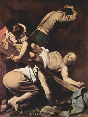 Michelangelo Merisi de Caravaggio. The crucifixion of St. Peter
