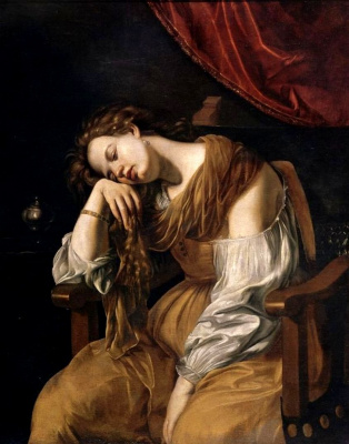 Артемизия Джентилески. Мария Магдалина в образе Меланхолии