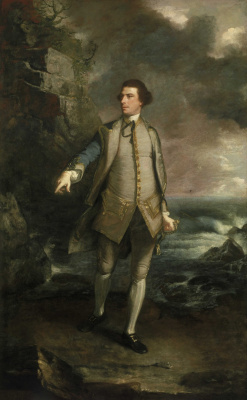 Joshua Reynolds. Portrait of Commodore Augustus Keppela