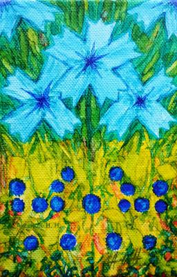 "Nikolay Nikolayevich Aksenov. ""Blue flowers"""