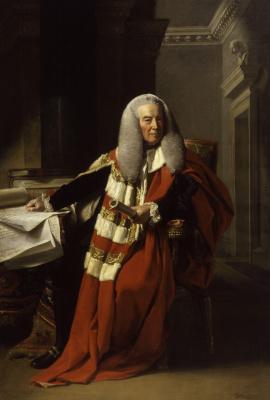 Джон Синглтон Копли. Уильям Мюррей, 1-й граф Мэнсфилд (1705-1793) в своих официальных одеждах в качестве лорда-председателя