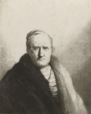 Jan Lievens. Portrait of an elderly gentleman in a fur coat