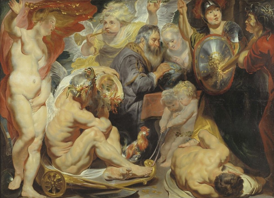 Jacob Jordaens. Allegory of Science. Minerva and Kronos protect Science from Envy and Ignorance