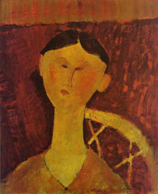 Amedeo Modigliani. Portrait of Beatrice Hastings, seated on a chair