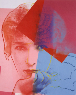 "Andy Warhol. Portrait of Sarah Bernhardt from the series ""Ten famous Jews of the twentieth century"""