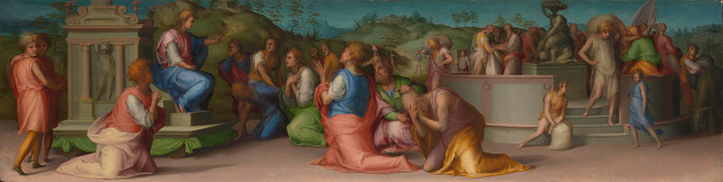 Jacopo Pontormo. Joseph's brothers ask for help