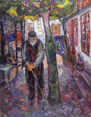 Edvard Munch. The old man in Warnemunde
