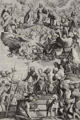 Агостино Карраччи. Мученичество святой Юстины Падуанской