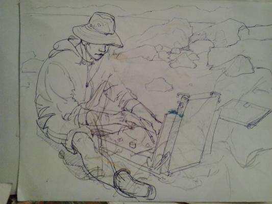 DANIAR JOLDOSHBEKOV. Рисующий парень