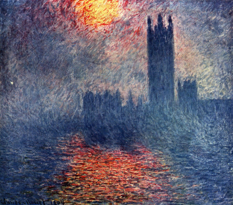 Claude Monet. Houses of Parliament, London (Sun in the mist)