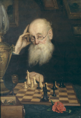 To himself, or playing chess