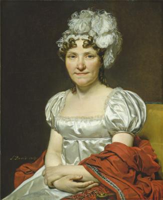 Jacques-Louis David. The painter's wife portrait of Marguerite-Charlotte David