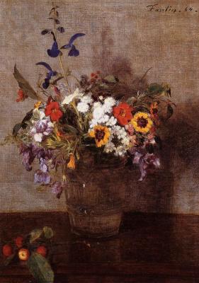 Анри Фантен-Латур. Разнообразные цветы