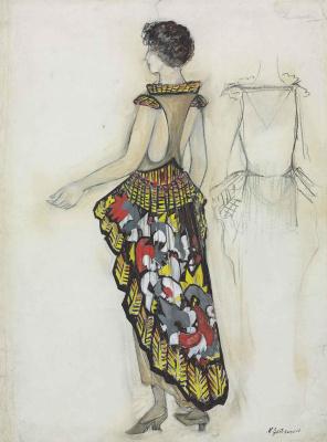 Natalia Goncharova. Sketch dresses La Phenicienne