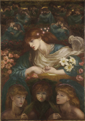 Dante Gabriel Rossetti. Blessed Damozel. The upper fragment