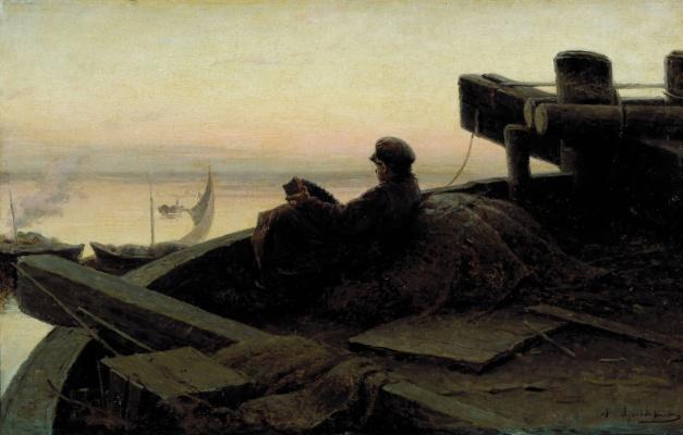 Abram Arkhipov. On The Volga