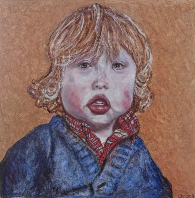 Chris Waddington. Portrait of a baby boy.