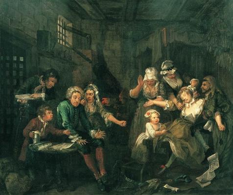 William Hogarth. Mota's career. Prison