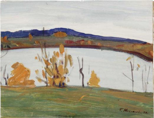 George Grigorievich Nyssa. River bank in autumn
