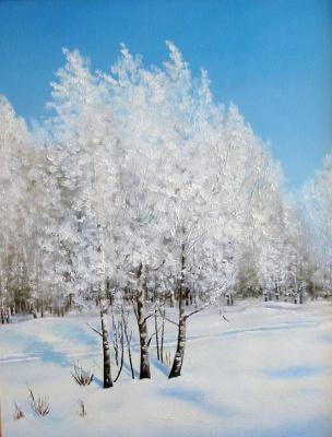 Vladimir Vasilyevich Abaimov. Winter in Talmenka Village