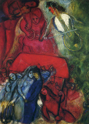 Marc Chagall. Wedding
