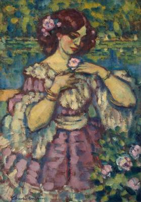 Шарль Герен. Дама с розой