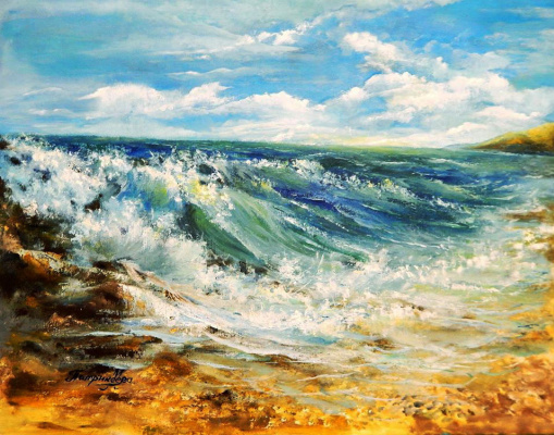 Marina Vladimirovna Patrikeeva. Wind was blowing from sea.