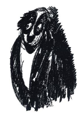 Антуан де Сент-Экзюпери. Персонаж, растерянно глядящий в сторону