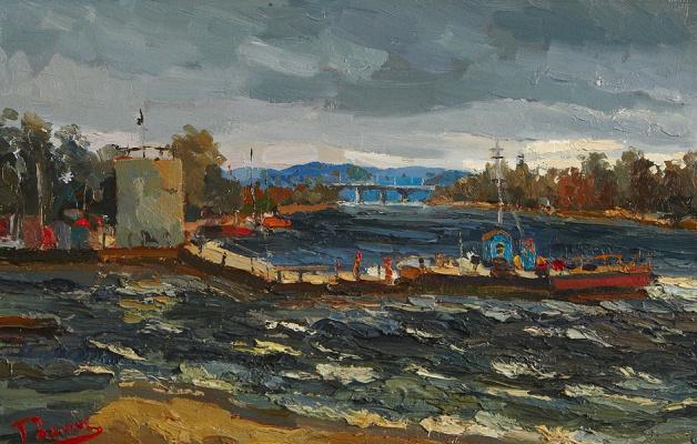 Yuri Ivanovich Roman. Storm on the Volga