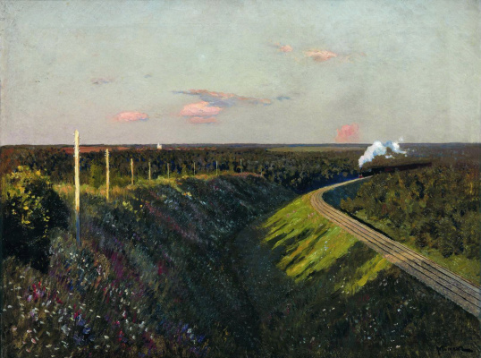 Isaac Levitan. The train on the way