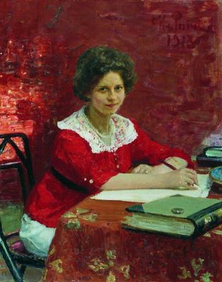 Ilya Efimovich Repin. Portrait Of K. B. Boleslavova