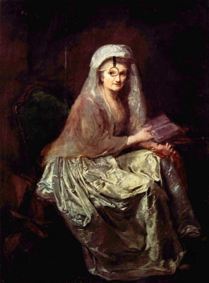 Анна Доротея Тербуш. Автопортрет с моноклем