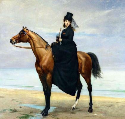 Каролюс-Дюран. Конный портрет мадемуазель Кразет