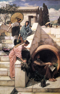 John William Waterhouse. Diogenes