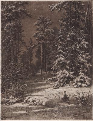 Ivan Ivanovich Shishkin. Winter Moonlight Night