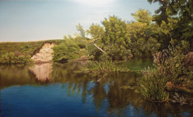 "Vitaliy Vadimovich Stroynov. ""Chagan River. Round pool."""