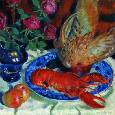 Boris Mikhailovich Kustodiev. Still life with pheasants